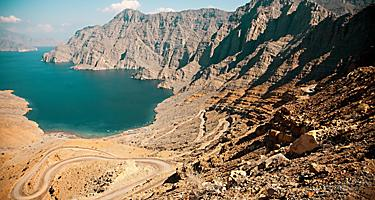 The Khor Najd fjord in Oman