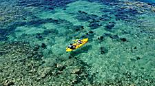 Kayaking the crystal clear blue waters of Bermuda near Fort Hamilton