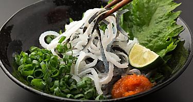 Pufferfish Sashimi in a bowl served in Kitakyushu, Japan