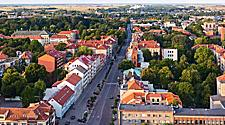 Aerial view of Klaipeda, Lithuania