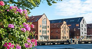 Buildings in Klaipeda, Lithuania's Old Town