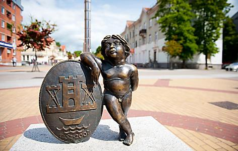 A sculpture in Klaipeda, Lithuania