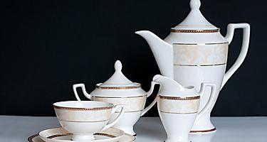 A traditional Japanese tea set