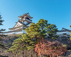 Beautiful white Kochi Castle is a Japanese castle in Kochi built by Yamanouchi Kazutoyo in 1601