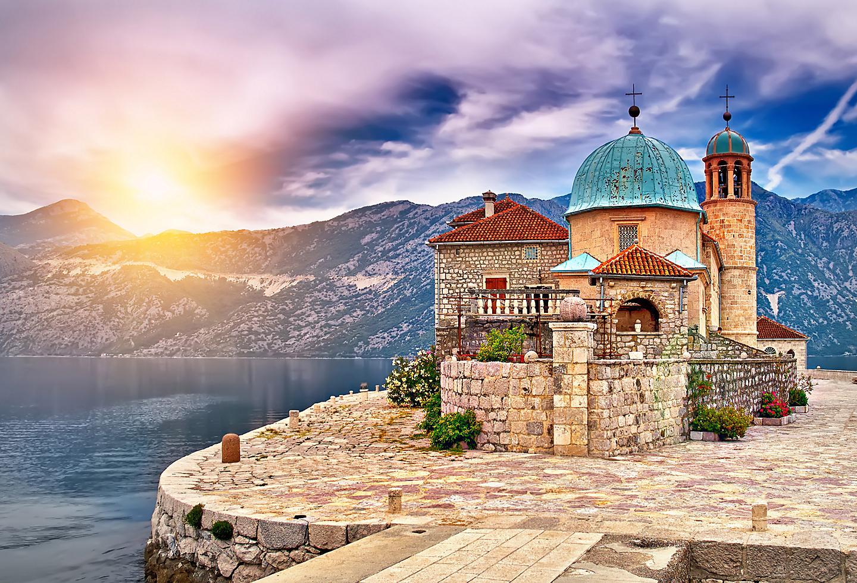 Kotor Montenegro Castle During Sunset