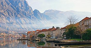 Coastal buildings in Kotor, Montenegro