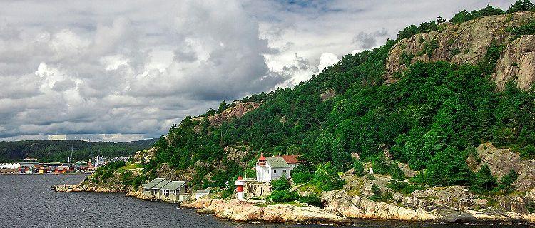 A coastal mountain in Kristiansand, Norway