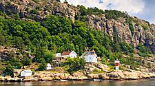 Odderoya Lighthouse in Kristiansand, Norway