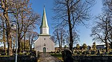 A white church in Kristiansand, Norway