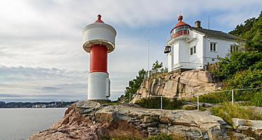 The Odderoya Lighthouse in Kristiansand, Norway
