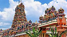 Bright and colorful Sri Maha Mariamman Temple for Hinduism in Kuala Lumpur, Malaysia