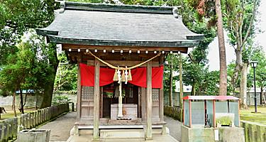 Haiden of Inari Shrine at Suizenji Jojoen Garden in Kumamoto
