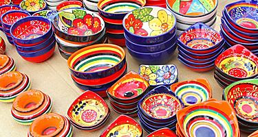 Hand painted ceramic pottery for sale in Spain