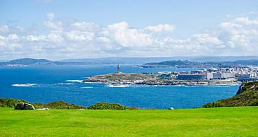 View of La Coruna, Spain for San Pedro Park