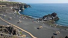 The Charco Verde volcanic beach in La Palma, Canary Islands