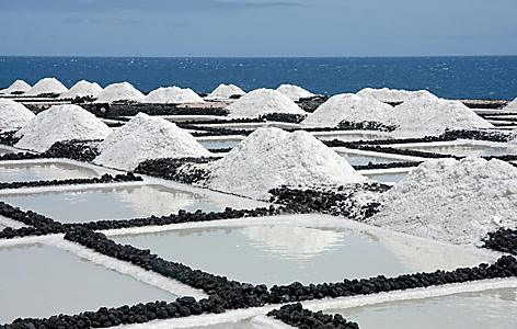 Salt extraction in La Palma, Canary Islands