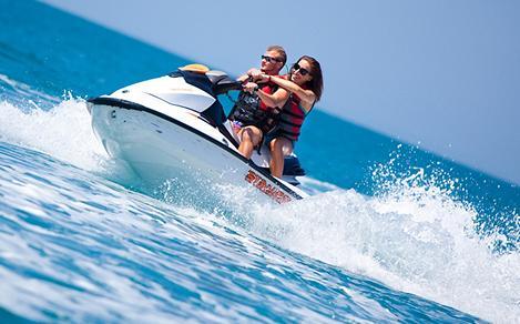 Couple Enjoying the Jet Ski in Labadee