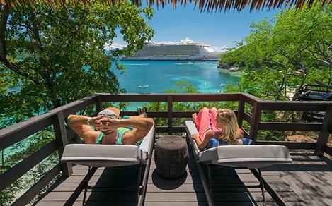 Labadee Haiti Couple Relaxing Nellies Beach Bungalow