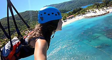 Woman Gliding Through the Coast of Labadee