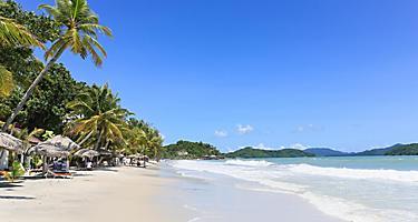 Stunning Cenang beach in Langkawi island, in Malaysia