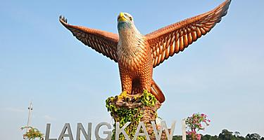 Statue of the Eagle Square in Langkawi, Malaysia
