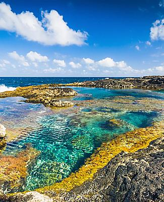 A coastal natural pool in Lanzarote, Canary Islands