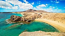 View of Papagayo Beach in Lanzarote, Canary Islands