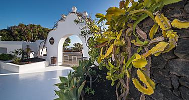 Entrance of the Cesar Manrique House museum in Lanzarote, Canary Islands