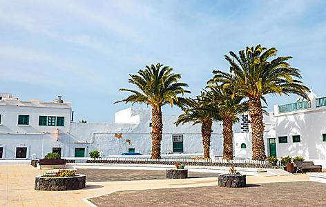 City center of Teguise in Lanzarote, Canary Islands