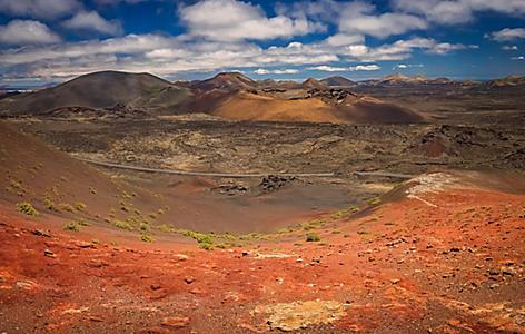 View of the Timanfaya National Park landscape