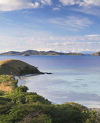 View of Beachcomber Beach in Fiji