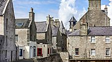Buildings in the old town of Lerwick/Shetland, Scotland