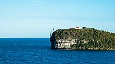 A church on a cliff on Lifou, Loyalty Islands