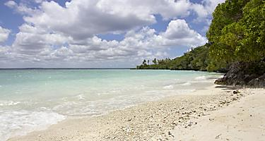 A beach at Easo in Lifou, Loyalty Islands