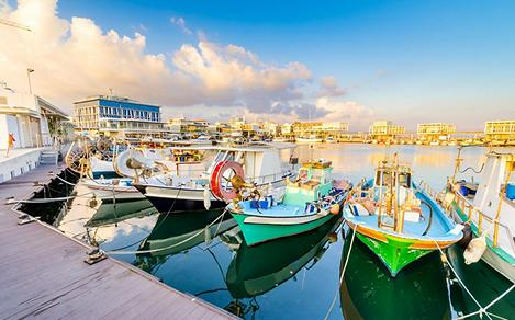 Fishing boats docked at the old port of Limassol, Cyprus