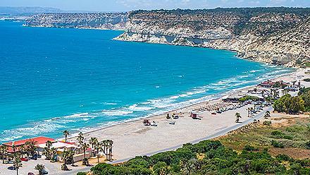 Kourion Beach Coast, Limassol, Cyprus