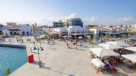A view of the commercial area in the beautiful, modern Marina in Limassol, Cyprus