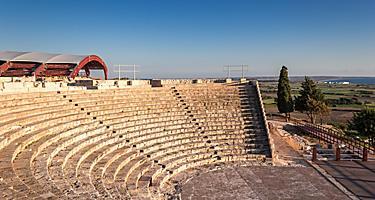 Ancient amphitheatre near Limassol, Cyprus