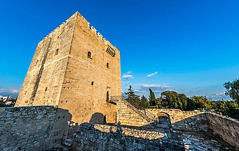 Kolossi Castle, a former Cruisader stronghold on the edge of Kolossi village, in Limassol, Cyprus