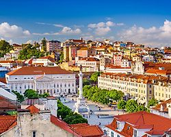 View of the Lisbon cityscape