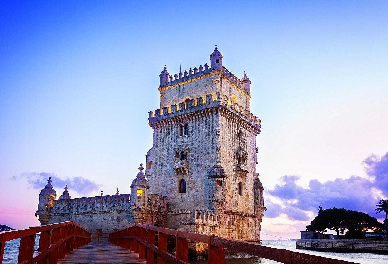 Portugal Lisbon Torre de Belem Sunset