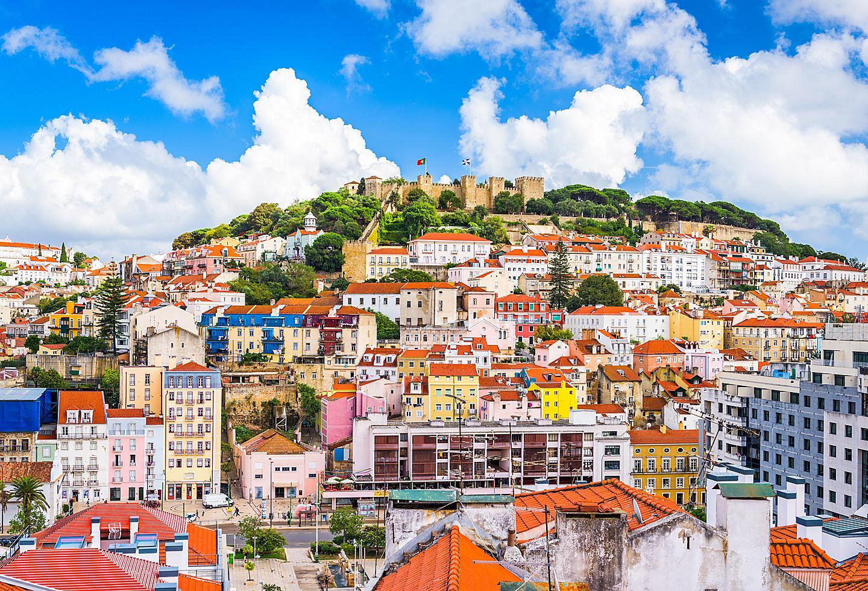Portugal Lisbon Town Aerial