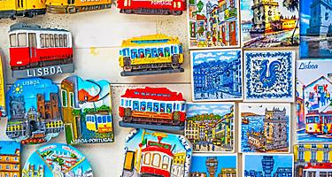Various Lisbon souvenir magnets