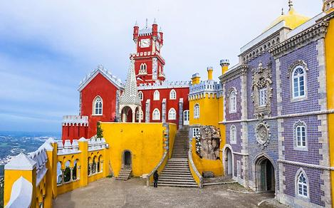 View of the Pena National Palace in Lisbon, Portugal
