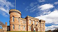 The Inverness Castle in Inverness, Scotland