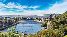City view of Inverness in Scotland