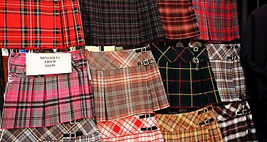 Various kilts for sale in Scotland