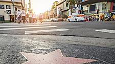 View of the famoud Hollywood Walk of Fame in California