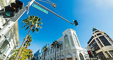 View of Rodeo Drive in Beverly Hills, California