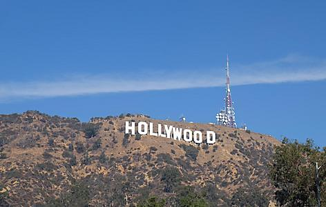 The famous Hollywood sign in California